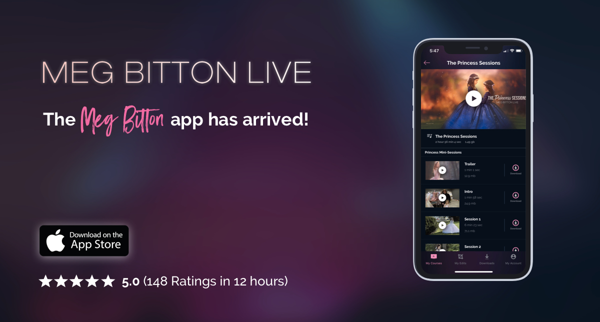 Launch Alert: Meg Bitton Live iOS App gets 148 ⭐️⭐️⭐️⭐️⭐️ reviews in just 12 hours!