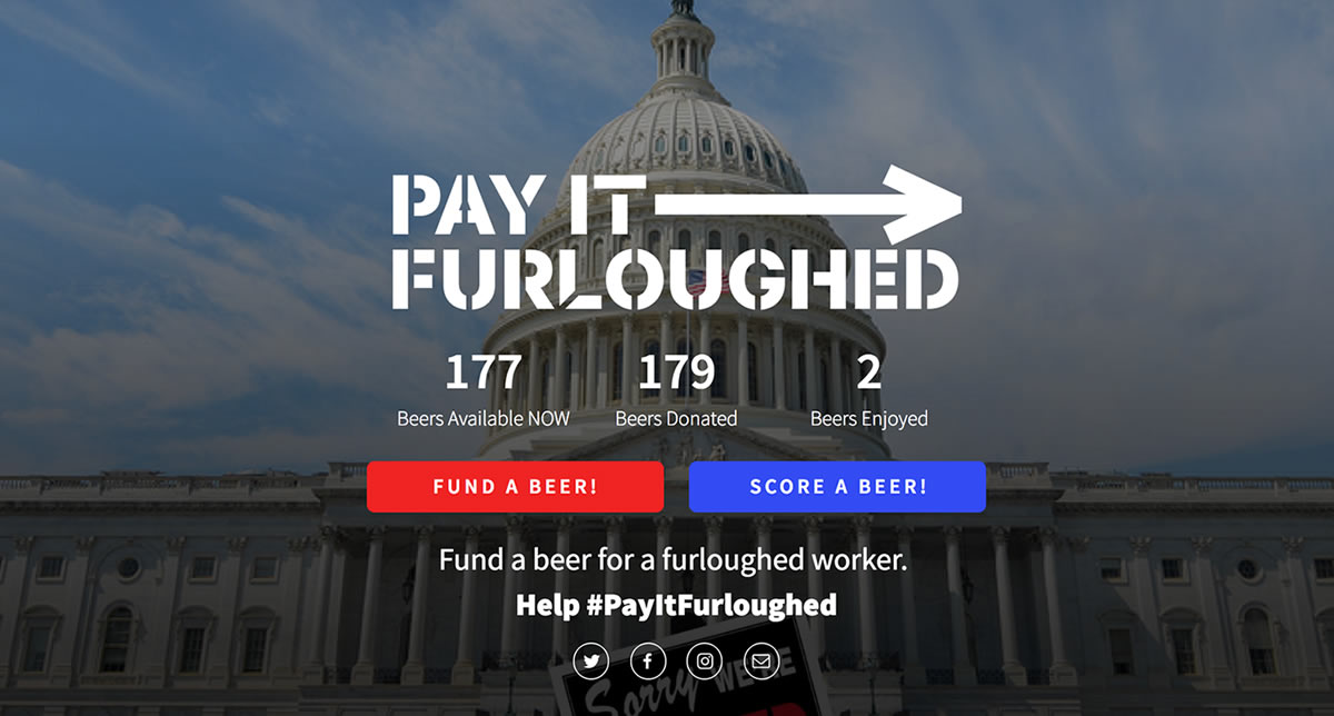 Pay It Furloughed: A RAD effort to support our local community. Donate Now!